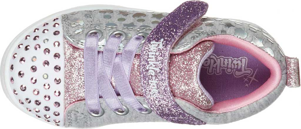 Infant Girls' Skechers Twinkle Toes Sparkle Rayz Heather & Shine Sneaker, Gray/Multi, large, image 4