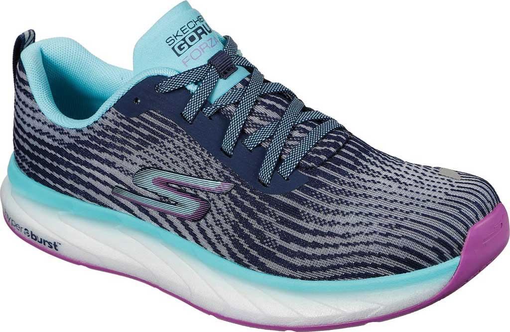 Women's Skechers GOrun Forza 4 Hyper Sneaker, Navy/Multi, large, image 1
