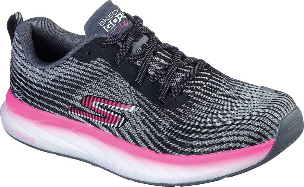 Women's Skechers GOrun Forza 4 Hyper Sneaker, Black/Hot Pink, large, image 1