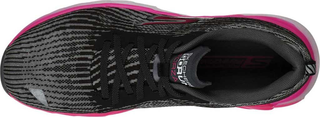 Women's Skechers GOrun Forza 4 Hyper Sneaker, Black/Hot Pink, large, image 4