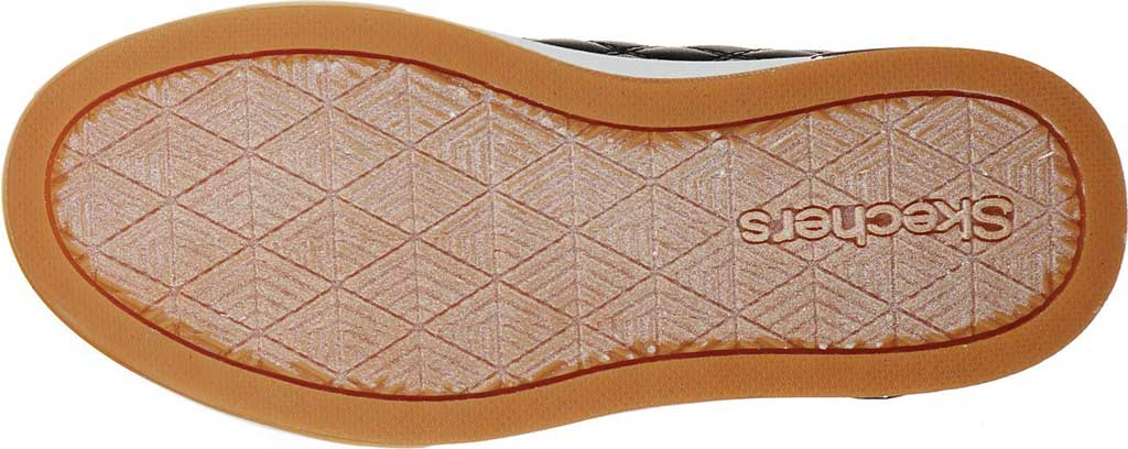 Girls' Skechers Shoutouts Quilted Squad Sneaker, Black/Rose Gold, large, image 5