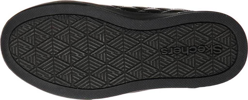 Girls' Skechers Shoutouts Quilted Squad Sneaker, Black/Black, large, image 5