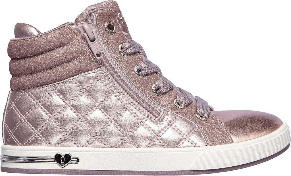 Girls' Skechers Shoutouts Quilted Squad Sneaker, Lavender, large, image 2