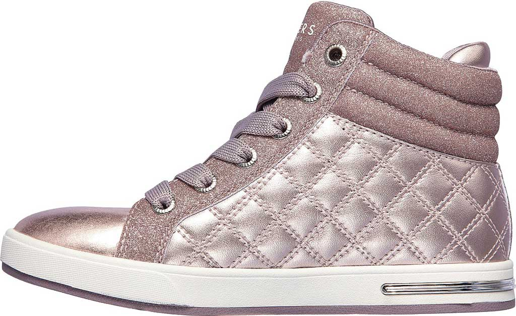Girls' Skechers Shoutouts Quilted Squad Sneaker, Lavender, large, image 3