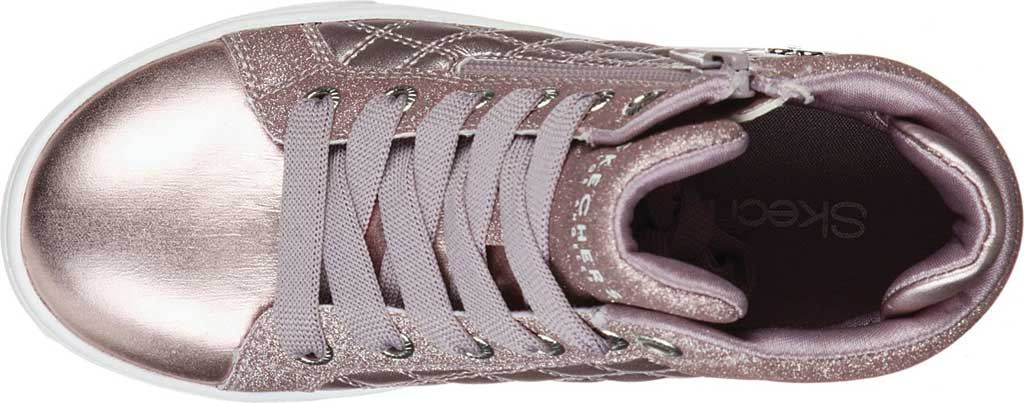 Girls' Skechers Shoutouts Quilted Squad Sneaker, Lavender, large, image 4