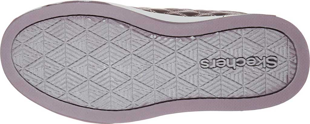 Girls' Skechers Shoutouts Quilted Squad Sneaker, Lavender, large, image 5