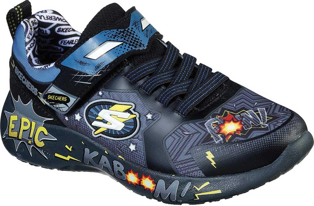 Boys' Skechers Dynamight Defender Squad Sneaker, Charcoal/Black, large, image 1