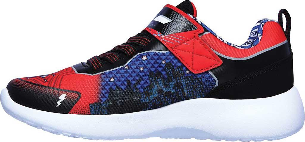 Boys' Skechers Dynamight Defender Squad Sneaker, Red/Black, large, image 3
