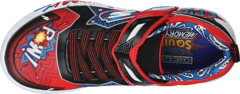 Boys' Skechers Dynamight Defender Squad Sneaker, Red/Black, large, image 4