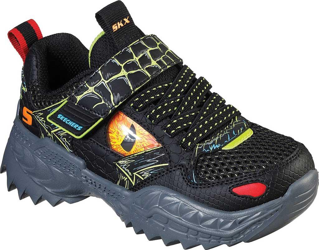 Boys' Skechers SkechOSaurus Sneaker, Black/Lime, large, image 1