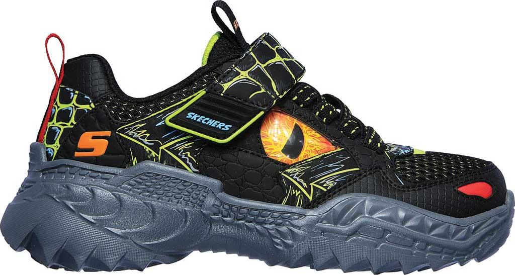 Boys' Skechers SkechOSaurus Sneaker, Black/Lime, large, image 2