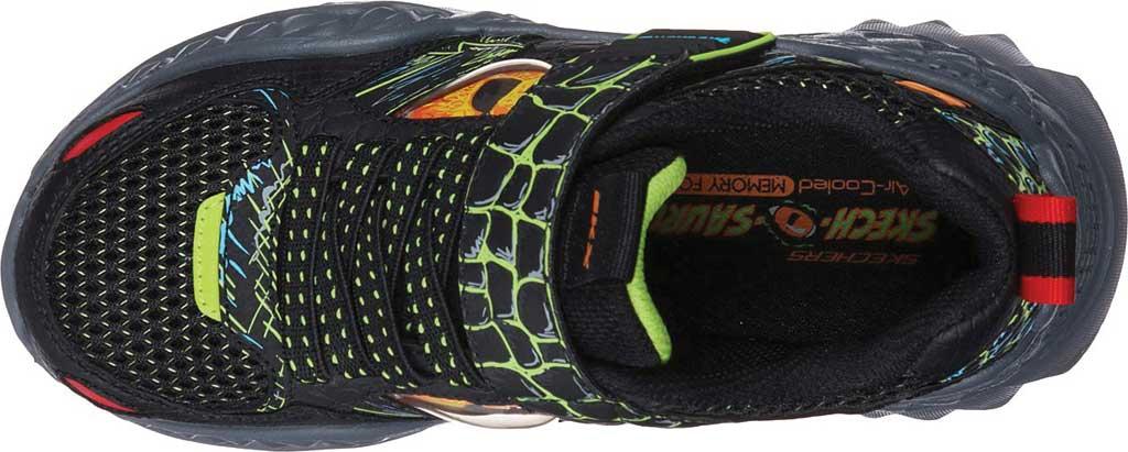 Boys' Skechers SkechOSaurus Sneaker, Black/Lime, large, image 4