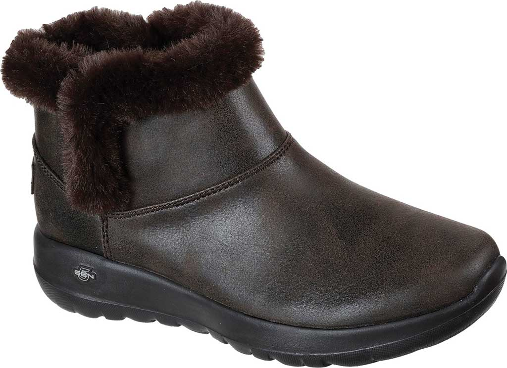 Women's Skechers On the GO Joy Endeavor Ankle Boot, Chocolate, large, image 1