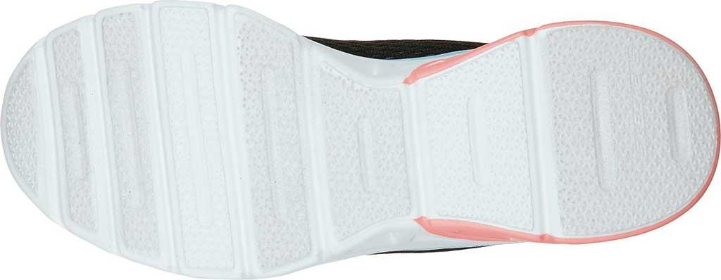 Women's Skechers Glide Step Sport Wave Heat Sneaker, Black/Blue/Light Pink, large, image 5