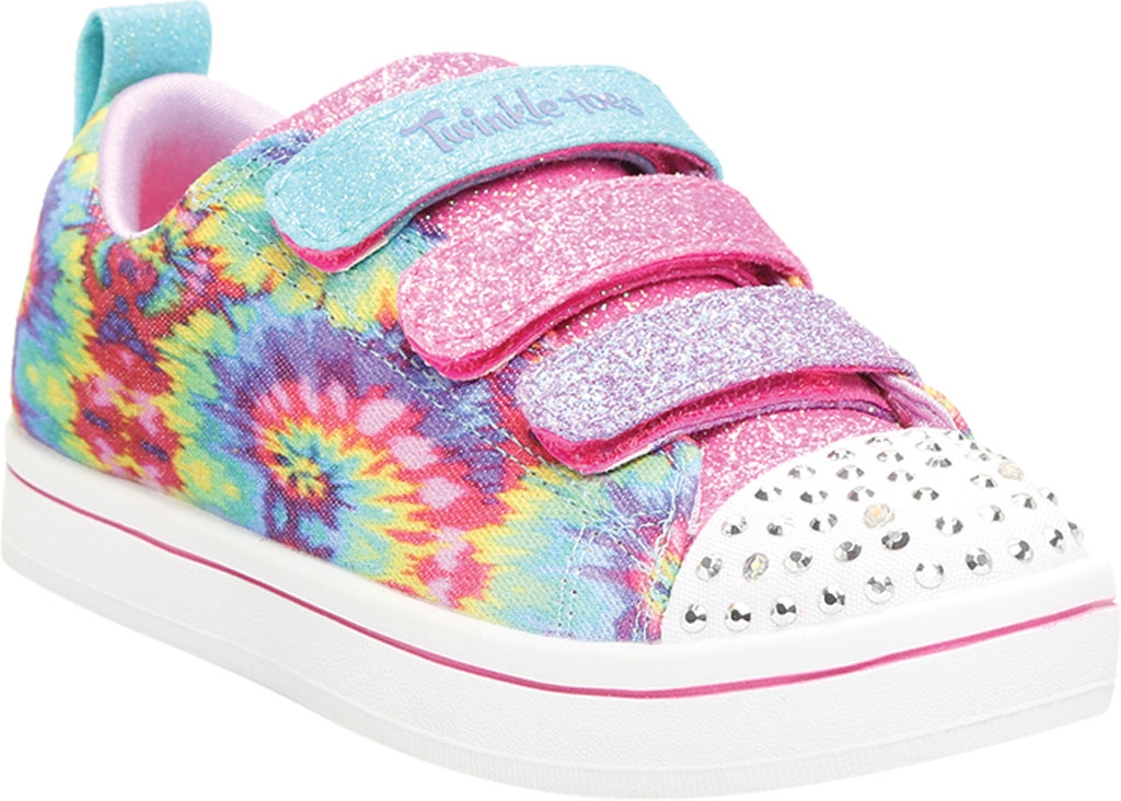 Girls' Skechers Twinkle Toes Sparkle Rayz Sneaker, Multi, large, image 1