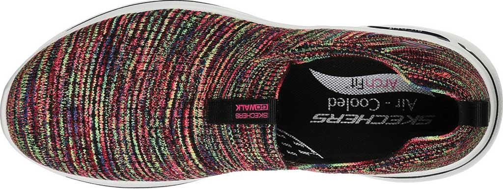 Women's Skechers GOwalk Arch Fit Rainbow Sunrise Slip-On, Black/Multi, large, image 4