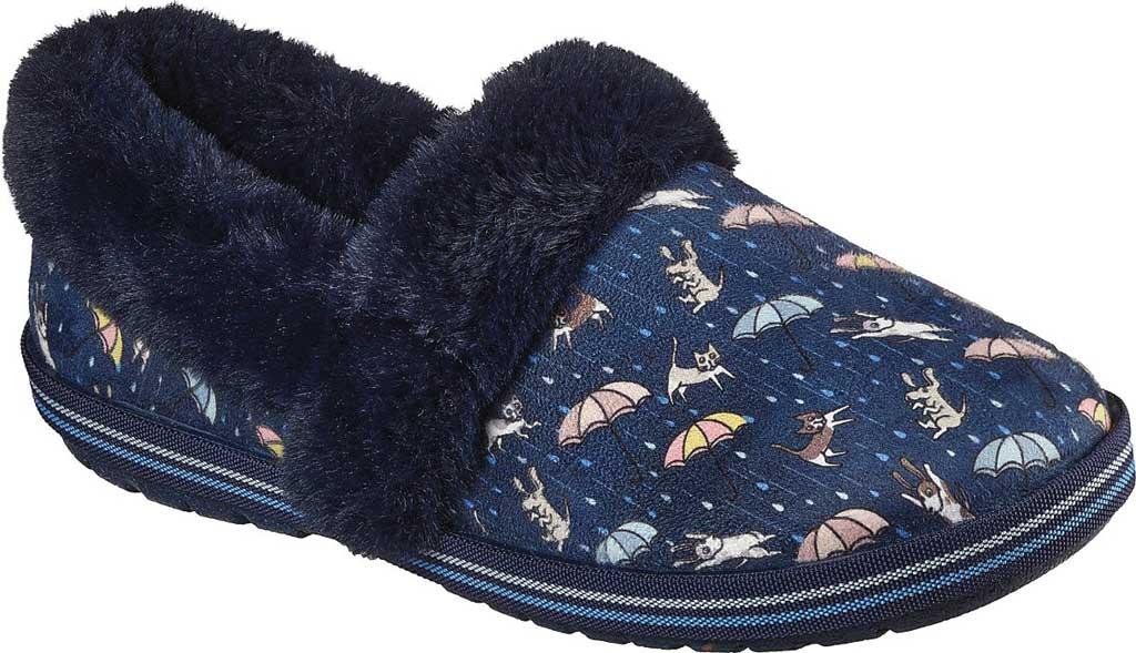 Women's Skechers BOBS Too Cozy Movie Night Slipper, Navy/Multi, large, image 1