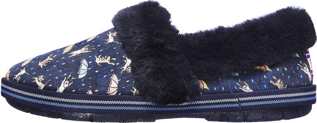 Women's Skechers BOBS Too Cozy Movie Night Slipper, Navy/Multi, large, image 3