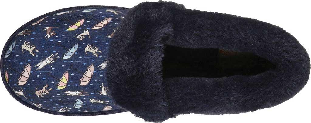 Women's Skechers BOBS Too Cozy Movie Night Slipper, Navy/Multi, large, image 4