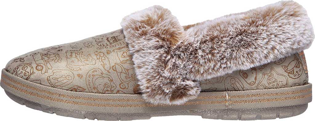 Women's Skechers BOBS Too Cozy Paws 2 Pawty Slipper, Taupe, large, image 3