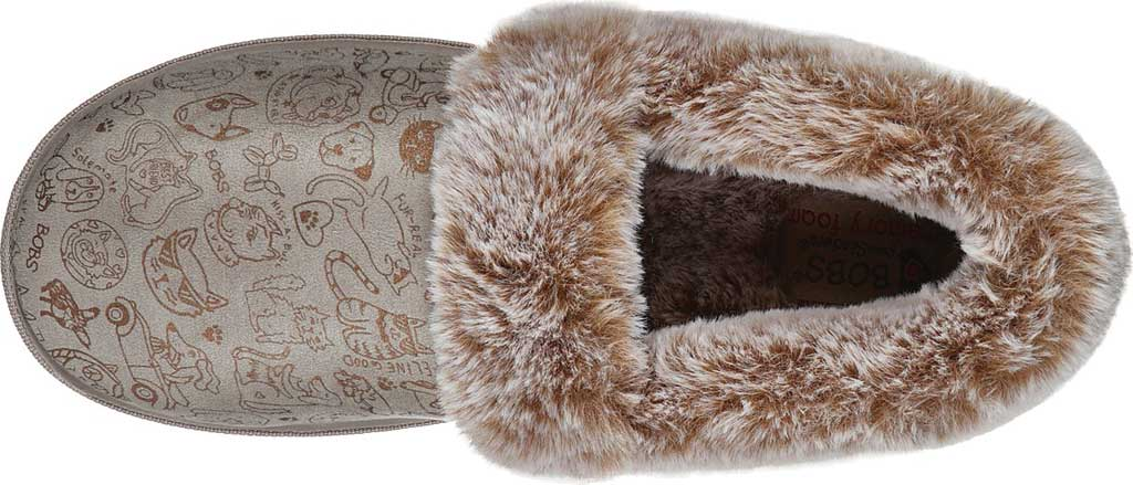 Women's Skechers BOBS Too Cozy Paws 2 Pawty Slipper, Taupe, large, image 4