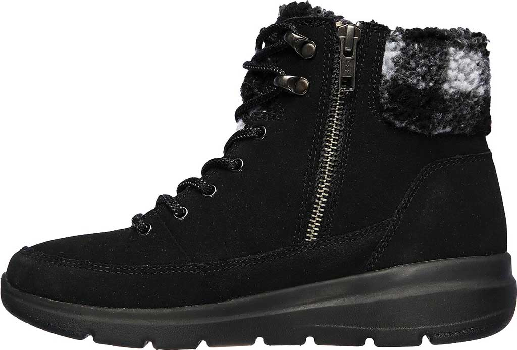 Women's Skechers On the GO Glacial Ultra Timber Winter Boot, Black/Gray, large, image 3