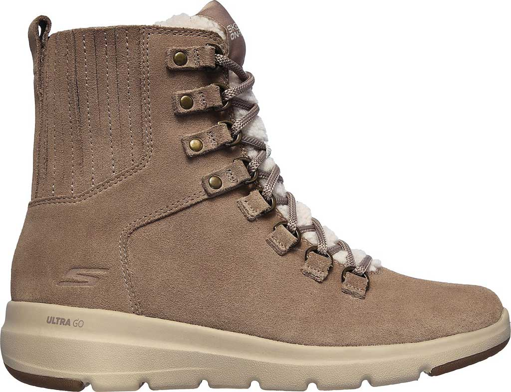 Women's Skechers On the GO Glacial Ultra Crusade Winter Boot, Dark Taupe, large, image 2