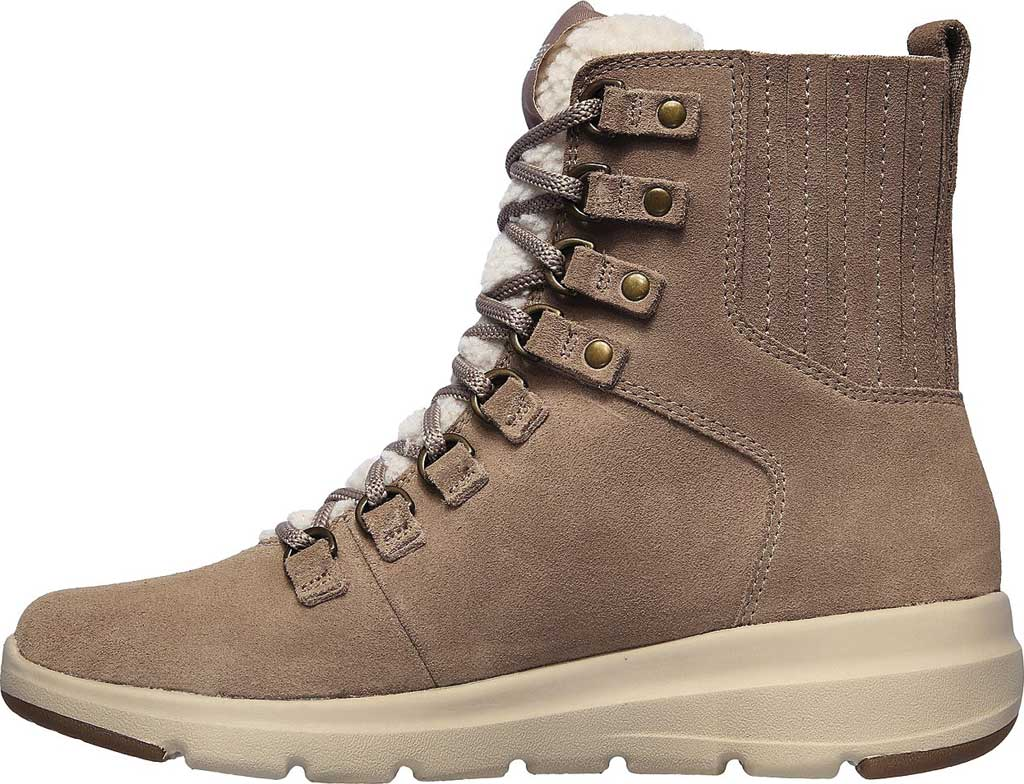 Women's Skechers On the GO Glacial Ultra Crusade Winter Boot, Dark Taupe, large, image 3