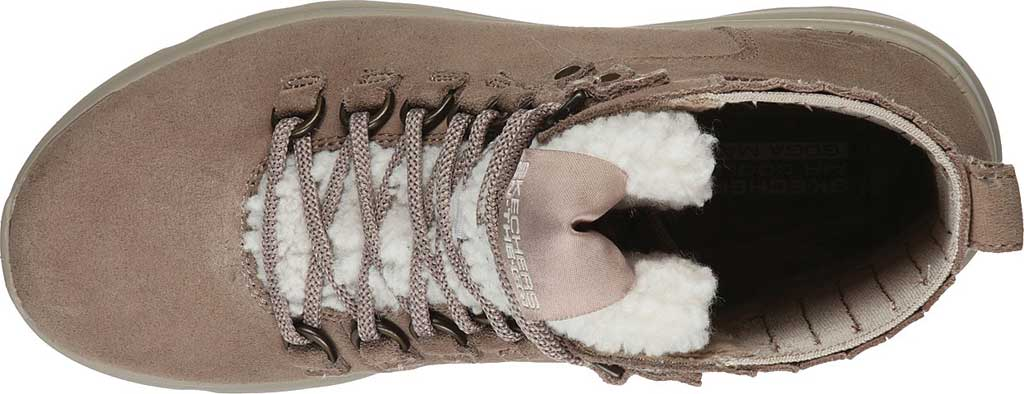 Women's Skechers On the GO Glacial Ultra Crusade Winter Boot, Dark Taupe, large, image 4