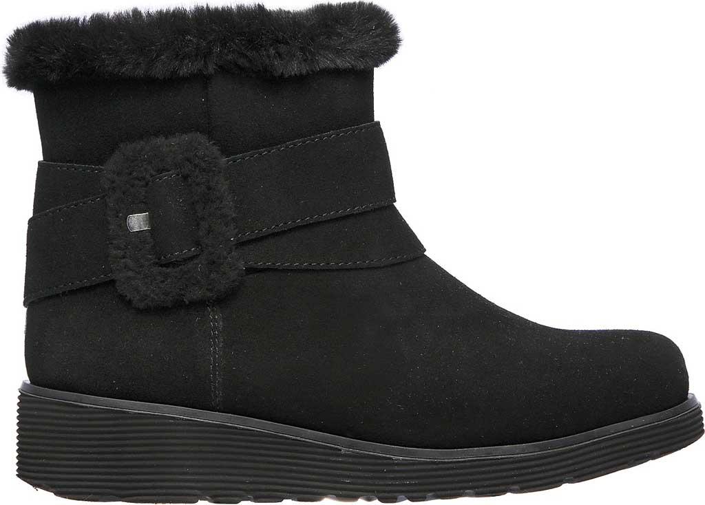 Women's Skechers Keepsakes Wedge Cozy Wraps Winter Boot, Black/Black, large, image 2
