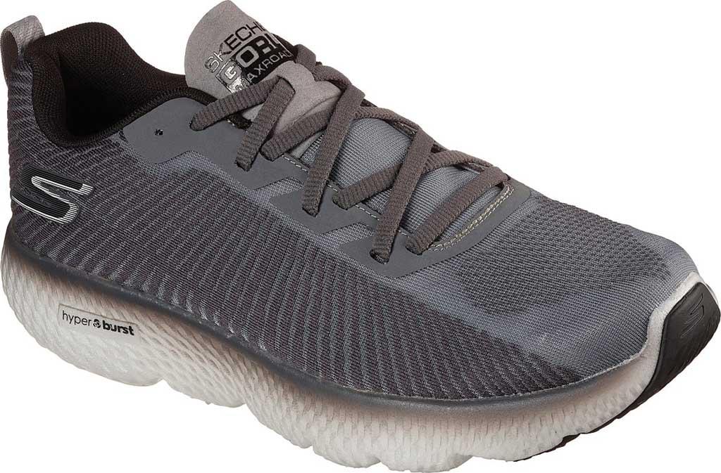 Men's Skechers GOrun MaxRoad 4+, Gray/Black, large, image 1
