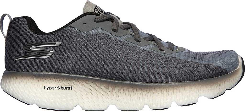 Men's Skechers GOrun MaxRoad 4+, Gray/Black, large, image 2