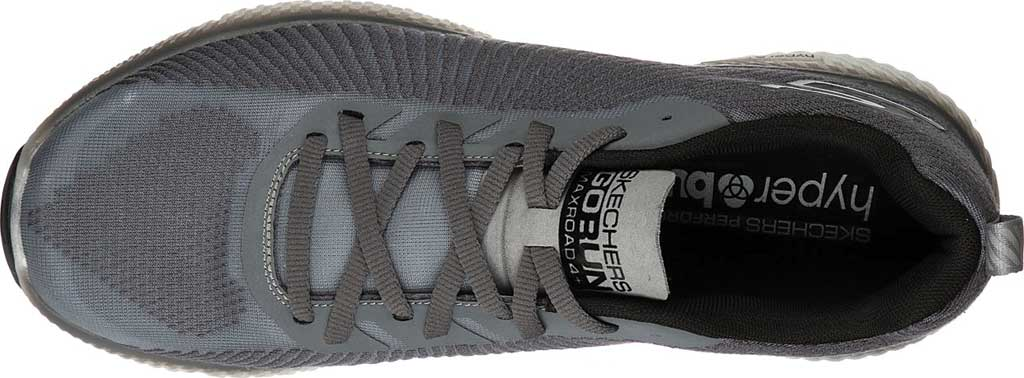 Men's Skechers GOrun MaxRoad 4+, Gray/Black, large, image 4
