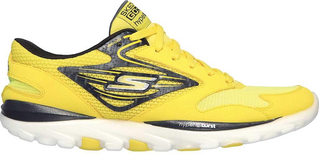 Men's Skechers GOrun OG Hyper, Yellow/Black, large, image 2