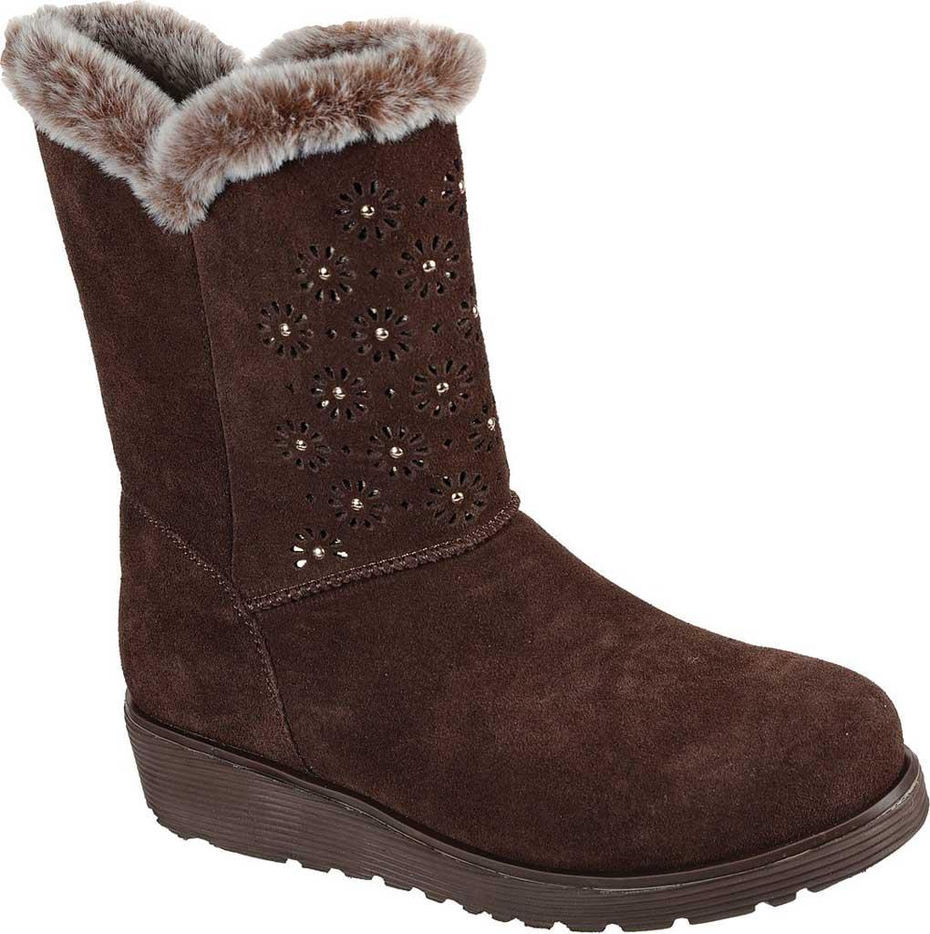 Women's Skechers Keepsakes Wedge Lovely Stud Winter Boot, Brown, large, image 1