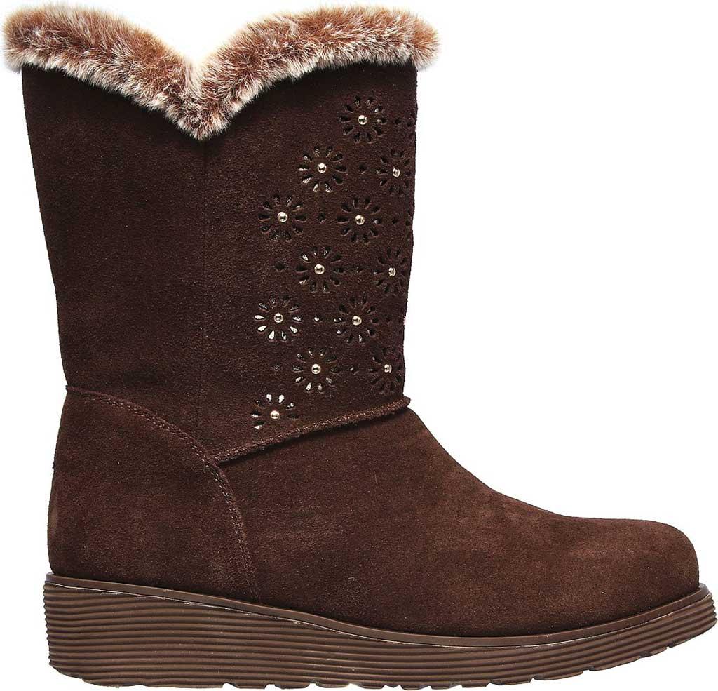 Women's Skechers Keepsakes Wedge Lovely Stud Winter Boot, Brown, large, image 2