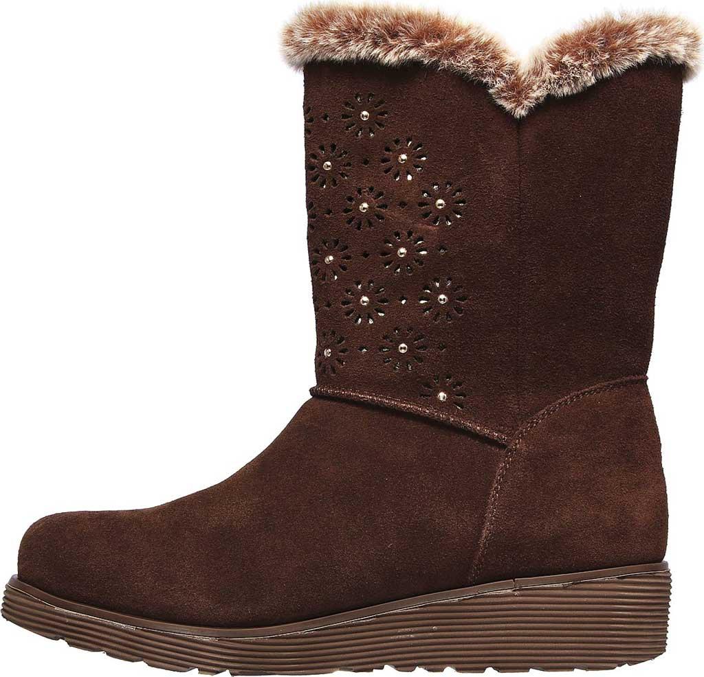 Women's Skechers Keepsakes Wedge Lovely Stud Winter Boot, Brown, large, image 3
