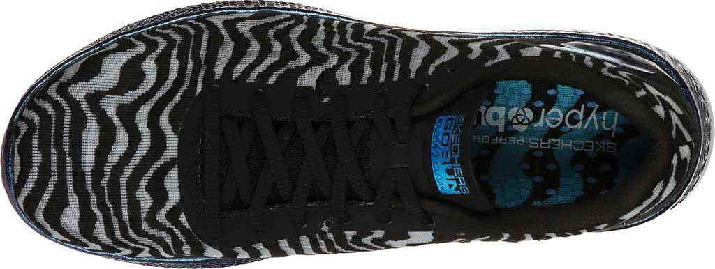 Women's Skechers GOrun Razor 3 Cloak Hyper Sneaker, Black/Blue, large, image 4