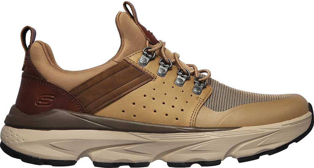Men's Skechers Relaxed Fit Delmont Escola, Light Brown, large, image 2