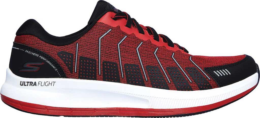 Men's Skechers GOrun Pulse Alanine, Red/Black, large, image 2