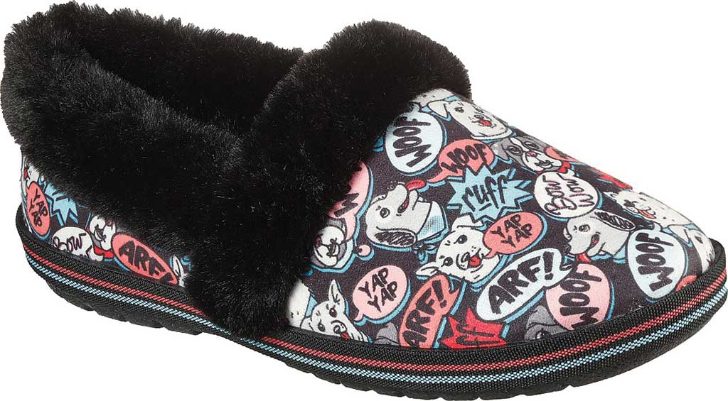 Women's Skechers BOBS Too Cozy Soiree Snuggle Slipper, Black/Multi, large, image 1