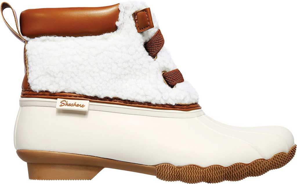 Women's Skechers Pond Sherpa Snuggle Duck Boot, Natural, large, image 2
