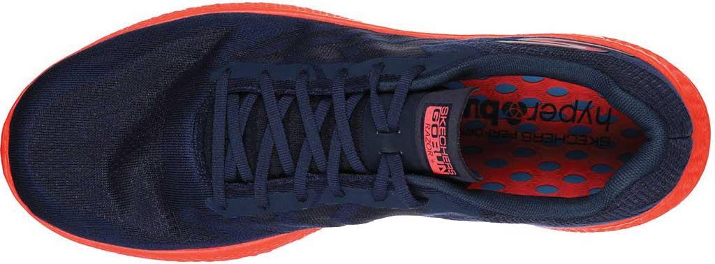 Men's Skechers GOrun Razor+, Navy/Coral, large, image 4
