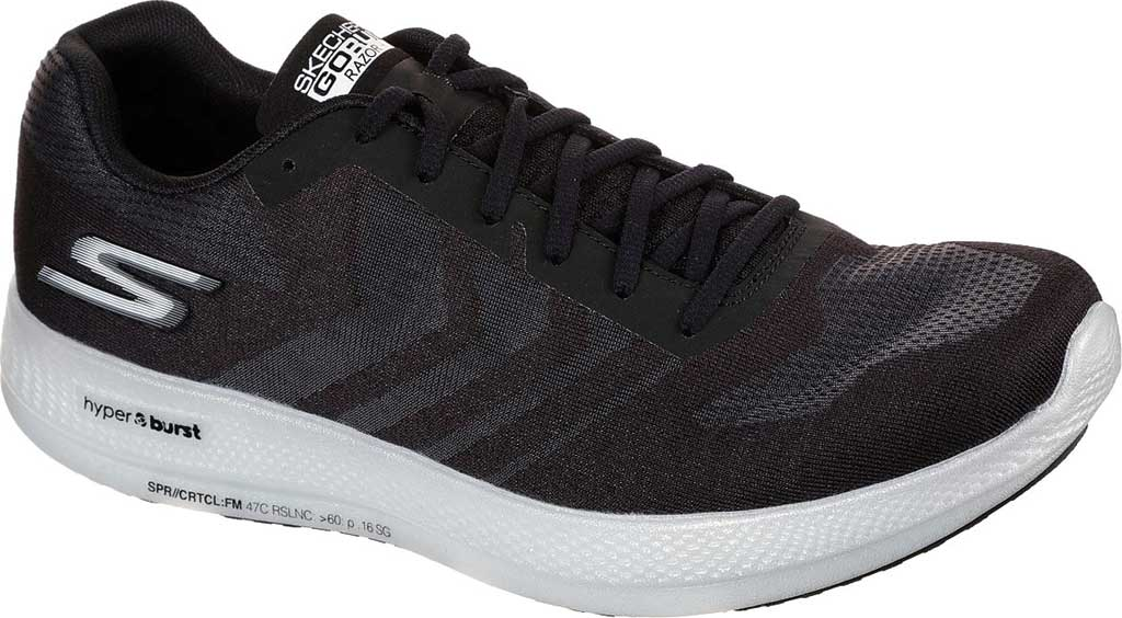 Men's Skechers GOrun Razor+, Black/White, large, image 1