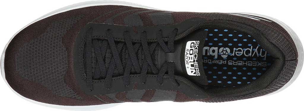 Men's Skechers GOrun Razor+, Black/White, large, image 4