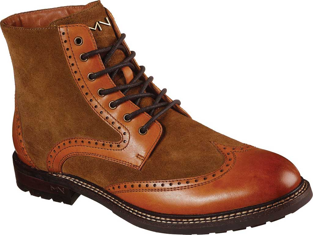 Men's Mark Nason Los Angeles Ithaca Beaufort Wing Tip Boot, Tan, large, image 1