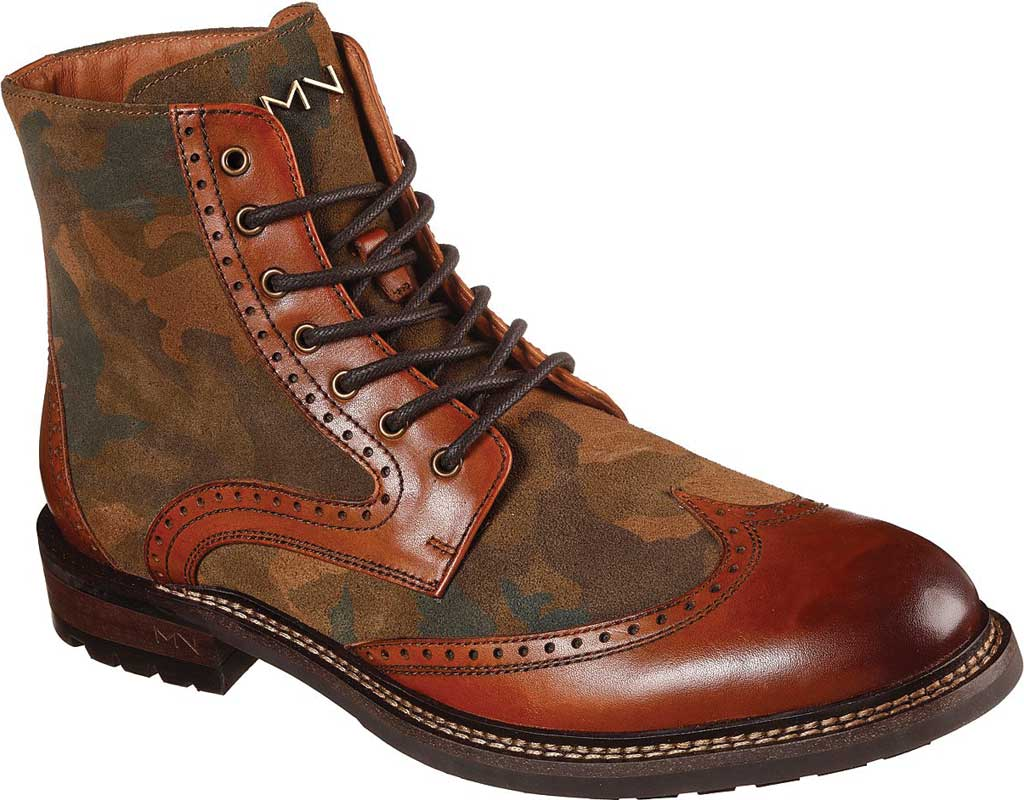 Men's Mark Nason Los Angeles Ithaca Beaufort Wing Tip Boot, Camouflage, large, image 1