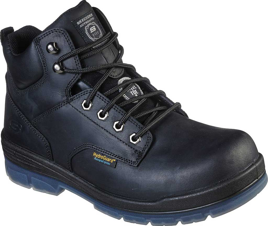Men's Skechers Work Argum ST WP Boot, Black, large, image 1