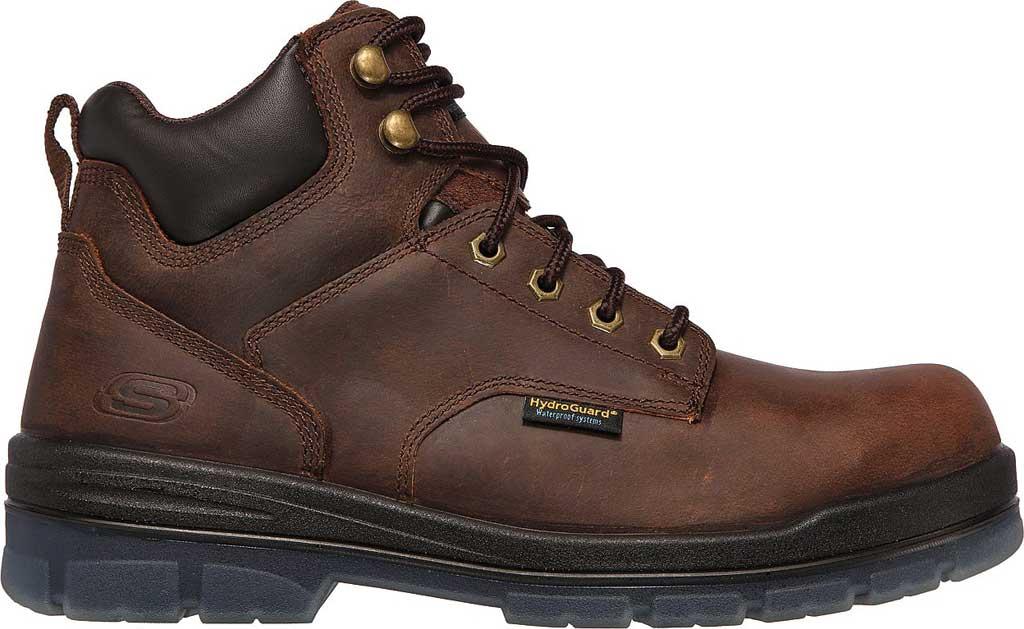 Men's Skechers Work Argum ST WP Boot, Chocolate Dark Brown, large, image 2