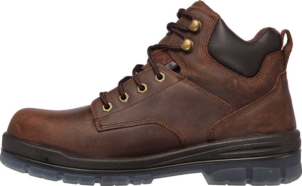 Men's Skechers Work Argum ST WP Boot, Chocolate Dark Brown, large, image 3